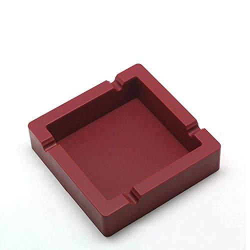 SHYPT Aschenbecher for Zigaretten Großer, schwarzer, unzerbrechlicher Aschenbecher aus Silikon for den Innenhof/den Außenbereich/den Innenbereich (Color : Red)