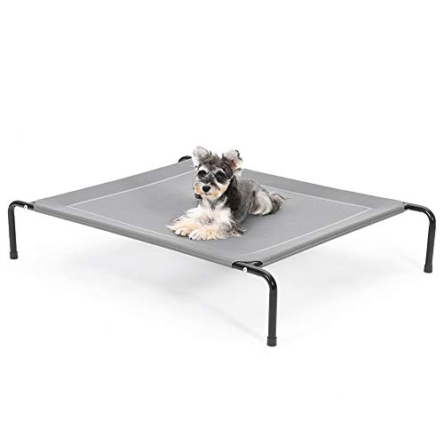 SUPERJARE 43/49 in Elevated Dog Bed, Portable Raised Pet Cooling Cot for Camping or Beach, Durable Frame and Mesh, Indoor or Outdoor Use