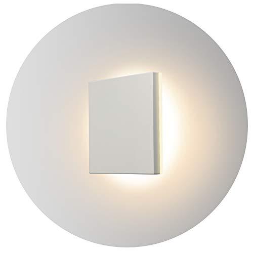 Topmo-plus 8W Lámpara da parete LED OSRAM SMD Luci Muro Applique design per interno/esterno waterproof IP65 alluminio Faretto soggiorno/terrazzo/giardino 15CM (bianco/bianco caldo)
