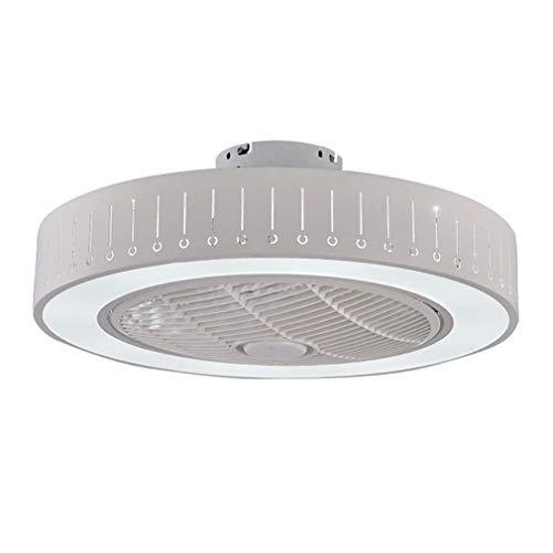 Moderne plafondventilator, 22 inch, onzichtbaar voor inbouw binnenshuis, met licht en afstandsbediening, stille lamp met ventilator voor de slaapkamer