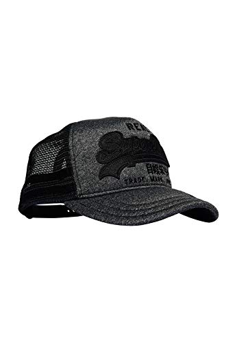 Superdry Trucker Outline Premium - Gorra, Color Gris