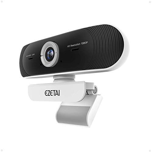 Webcam with Microphone for Desktop or Laptop,HD 2.0MP 1080P,Plug and Play, for Compatible with Video Conference Recording,90° Wide-Angle USB Streaming Webcam