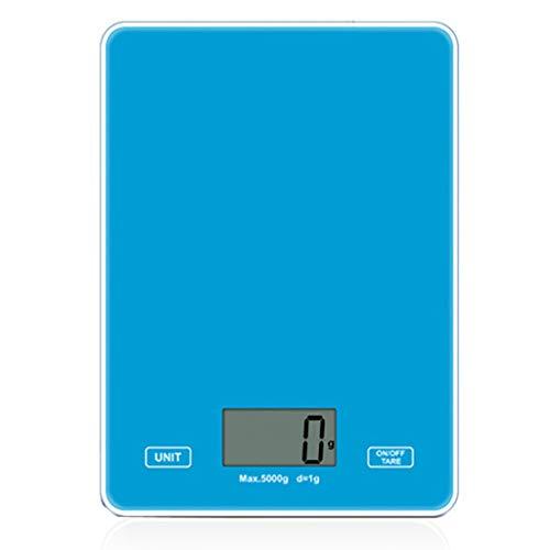 Xzbnwuviei Báscula de cocina pequeña de 5 kg, báscula digital de cocina de peso gramo para cocinar, hornear, vidrio templado, ligero y duradero, pantalla LED