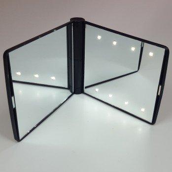 Miroir de poche avec éclairage LED intégré, de grande qualité