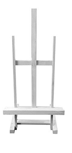 A0A1Heavy Duty Holz Tisch Staffelei neigbar 67cm schwarz, weiß, silber, Buche Display Ständer Halter weiß