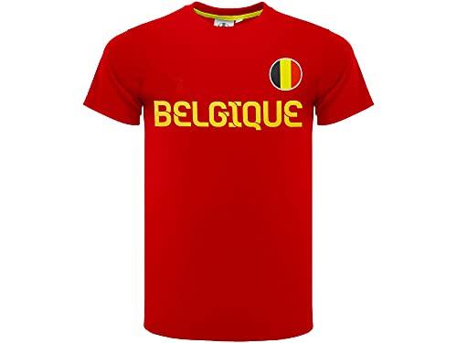 Camiseta de fútbol Bélgica oficial 2020. Camiseta para aficionados. Modelo neutro. Material:...