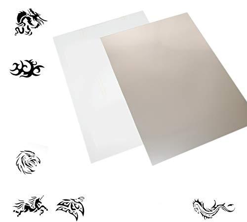 Mylar Schablonen Material 50 Stück A4 Folie Mylarfolie + 51 digitale Grafiken