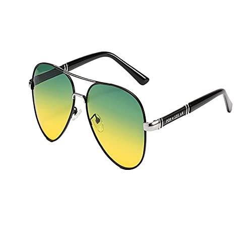 DFRFR Gafas de sol polarizadas Gafas de sol que cambian de color Gafas de sol Gafas de sapo de doble haz