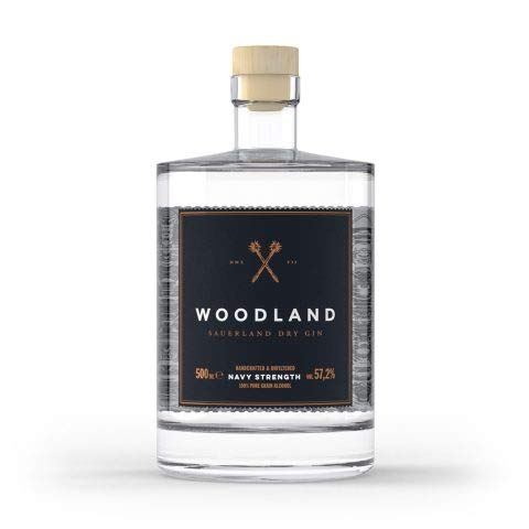 Woodland Navy Strenght Sauerland Dry Gin 57,2% a 500ml