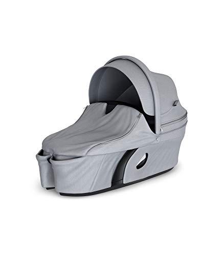 STOKKE® Xplory® Babyschale - Kinderwagenaufsatz mit fester&schützender Außenschale - atmungsaktive Matratze aus Sorona - erweiterbares & belüftbares Verdeck mit Blendschutz - Farbe: Grey Melange