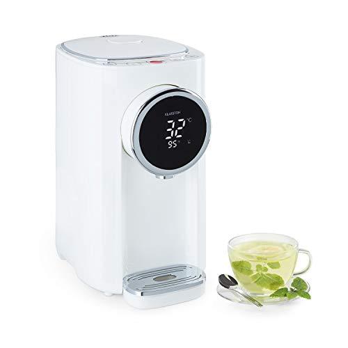Klarstein Hot Spring Plus Heißwasserspender, Wassertank: 5 Liter, großes LCD-Display, Temperaturen: 45-95 °C, Edelstahl-Wassertank, Trockengeh- & Überhitzungsschutz, Kindersicherung, weiß