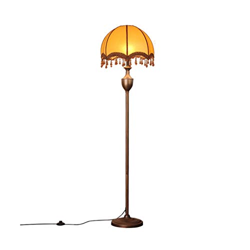 Floor lamp slaapkamer decoratieve Lamp LED leeslampje naast uw bed Europese Retro Living Room Vertical Light Study Room Learning Lamp LED (Color : Bronze, Size : 38cm*156cm)