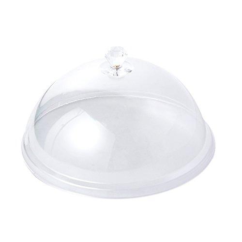 BESTONZON Cubierta de pastal de acrílico transparente tapa de plato tartas pastelería para mantener moscas insectos