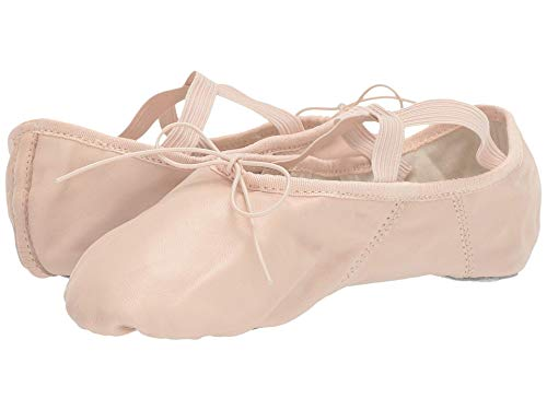 Capezio Women's Leather Juliet Ballet Shoe Flat, Light Pink, 9 UK