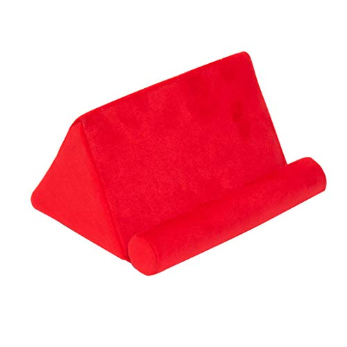 B Blesiya Tablet Sofa - Lap Cushion Tablet, Phone, Ebooks, Laptop Holder, Selected Colors - Red