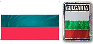 ALBATROS Set Bulgaria Country 3 ft x 5 ft 3x5 Flag and 3ftx4ft Decal for Home and Parades, Official Party, All Weather Indoors Outdoors