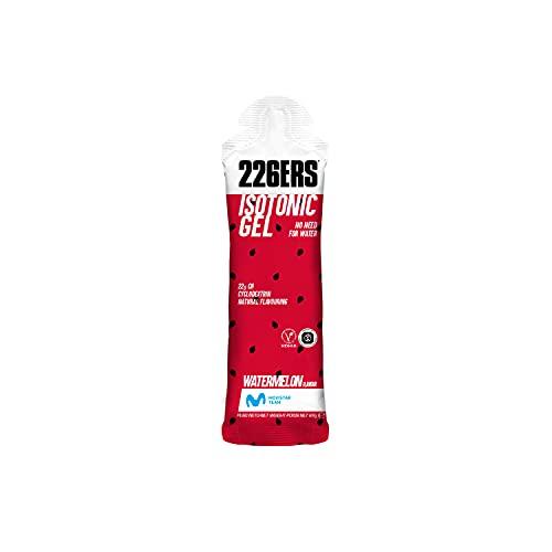 226ERS Isotonic Gel | Gel Isotónico con Ciclodextrina como Hidrato de Carbono, Gel Enérgetico Doping Free para Hidratación, Energía y Resistencia, Sandía - 24 unidades