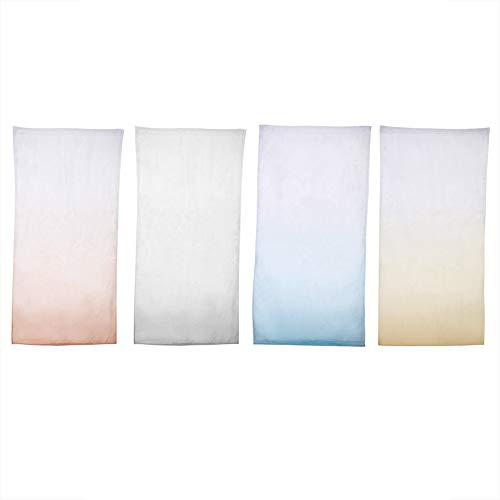 DEWIN Tenda per Finestra - Decorativo Voile in Tulle Trasparente Porta Finestra Tenda per Tende Drappeggio(Blu)