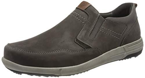 Josef Seibel Herren Low-Top Sneaker Enrico 04,Weite G (Normal),lose Einlage,Freizeit,sportlich,maennlich,Men\'s,Man,Grau (Asphalt-Kombi),48 EU / 13 UK