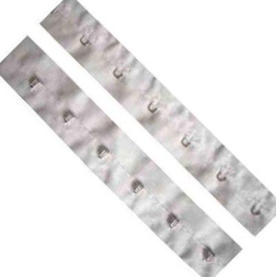 Trimming Shop Crochet et Eye Bande Tissu Fermeture pour Personnaliser & Conception Vêtements, DIY Tissu Loisirs Créatifs Projets,Vêtements,Lingerie - Blanc, 1 Metre