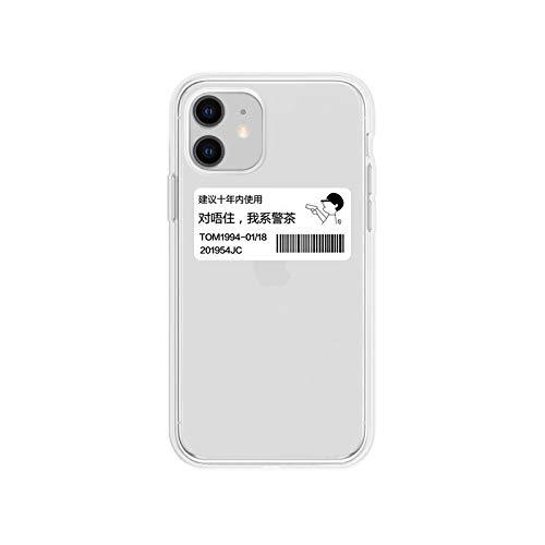 Más Formado Compatible con Iphone 11 Caso creativo, Tag parodia Policía transparentes de Tpu Iphone 11 casos de la cubierta for Iphone 11/11 Pro / Pro 11 Max y muchos otros modelos Más suave sensación