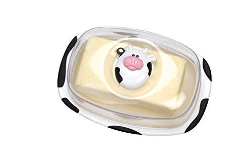 Joie Butterdose Moomoo, Kunststoff, Weiß/Schwarz, 17.8 x 10.2 x 12.7 cm