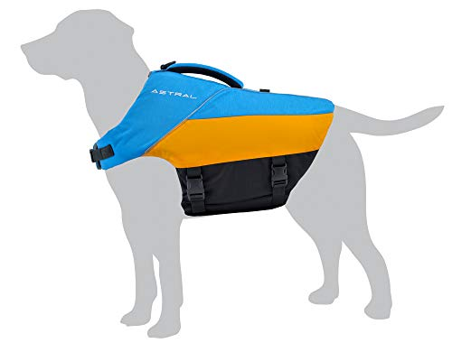 Astral BirdDog Dog Life Jacket PFD for Swimming and Water Play, Ol' Blue, M