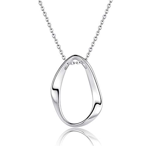 Pendant Necklace Sterling Silver Mobius Ring Clavicle Chain for Women Couple Birthday Jewelry Gifts