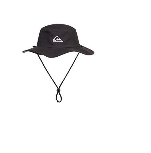 Quiksilver Herren Bushmaster Sun Protection Floppy Visor Bucket Hat Fischerhut, schwarz, Einheitsgröße