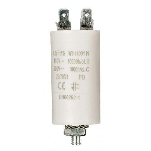 Condensateur de démarrage pour moteur électrique 450 VCA, 1.5 uF, 1