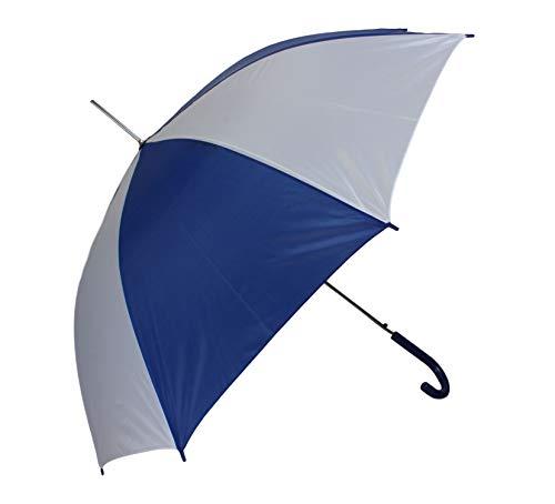 Automatik Schirm Stockschirm Regenschirm für Damen/Herren in blau/weiß