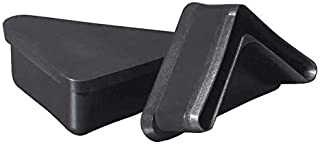 Prescott Plastics 10 Pack: 1 1/2 Inch Angle Iron Plastic End Caps L Shaped Chair Glides