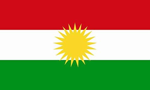 U24 Aufkleber Kurdistan Flagge Fahne 8 x 5 cm Autoaufkleber Sticker