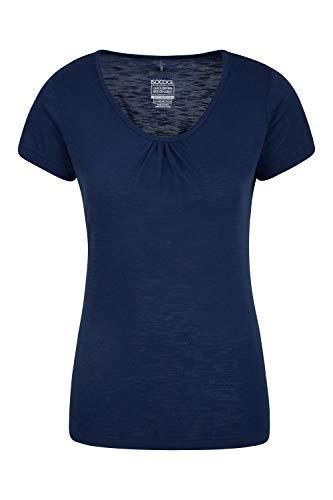 Mountain Warehouse Agra Damen-T-Shirt - leichtes, schnell trocknendes, atmungsaktives Sommer-Oberteil mit hoher Feuchtigkeitsregulierung - für Sport, Wandern, Freizeit Marineblau 38