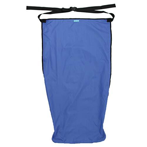 Hellery Rollstuhlsack Fußsack Schlupfsack Rollstuhl Sack aus Stoff + Samt - L