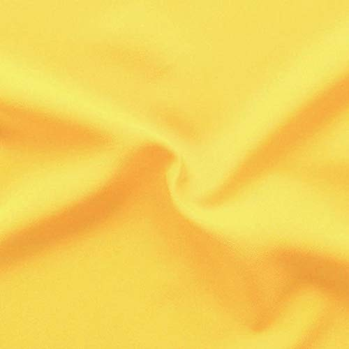 STOFFKONTOR Modestoff Dekostoff universal Stoff Meterware - zum Nähen von Bekleidung und Dekorationen jeder Art (Sommer-Gelb)