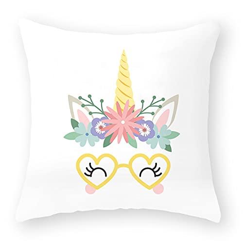 MissW Funda De Almohada Decorativa Rainbow Eyes Series Engrosada Sin Núcleo De Almohada con Funda De Cojín con Cremallera Funda De Almohada Adecuada para Dormitorio Sala De Estar