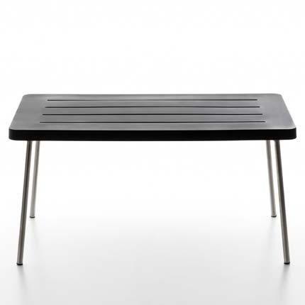 Serra lunga Time Out Half Table Mesa, Negro Polietileno tamaño 1150x 75cm