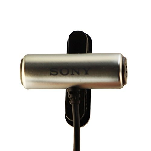 Sony ECMCS3 Clip style Omnidirectional Stereo Microphone - Black / Silver