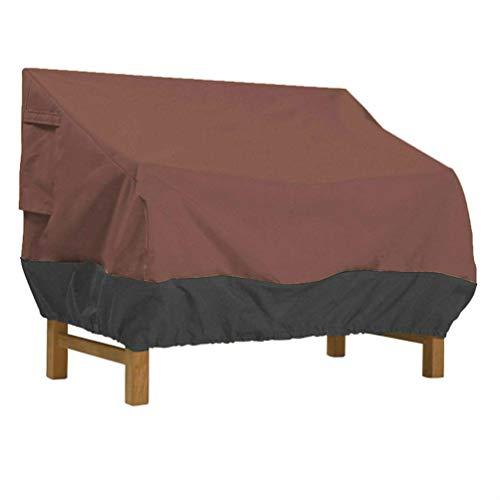 Asiacreate - Funda para sofá de patio, impermeable, para exteriores, color marrón y negro