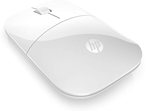 HP Z3700 White 2.4 GHz USB Slim Wireless Mouse with Blue LED1200 DPI Optical Sensor, Up to 16 Months Battery Life