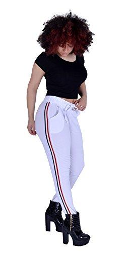 Mymixtrendz dames casual broek met strepen aan de zijkant