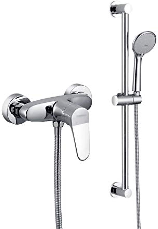 Duschsysteme Duschset Bad Wasserhahn Hot Und Kaltes Bad Sprinkleranlagen Rain Booster Vier Jahreszeiten Badewerkzeuge Reinigung Werkzeuge (Farbe   Silber, Größe   150cm)