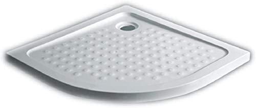 Art-of-Baan® - Superflache Duschwanne Duschtasse 100x 100 Komplettes Set reines Acryl Hochglanz kratzfest und rutschfest weiß Höhe 5 cm inkl. Ablaufgarnitur