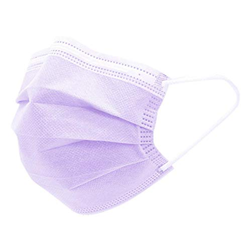 Firoya 50pcs Lila, Triple Capa Transpirable Cómodo para la Salud Facial