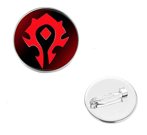Patch Nation Wow Horde Rot Cosplay Metall Pin Brosche Abzeichen