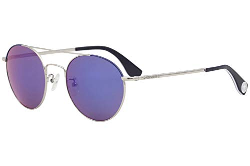 Converse Frau All Star SCO057 Sonnenbrille w/Violett-Objektiv 52mm E94R SCO057Q SCO 057Q SCO 057 Silber Lens-52-Brücke-21 Temple-140