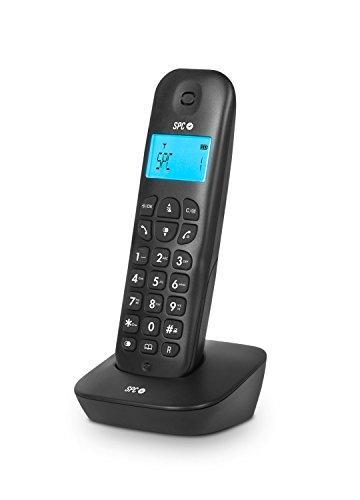 SPC Air teléfono inalámbrico con identificador de Llamadas, Negro