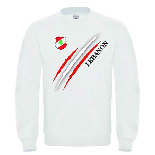 Roots Wear Libanon Männer Sweatshirt Weiß (XL)