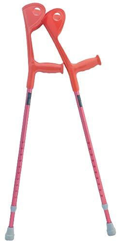 OrthoStix Adult Forearm Crutches - Half Cuff - Canadian Elbow Lofstrand Crutch (Fushia Pink)